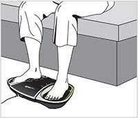 Bekväm fotmassage